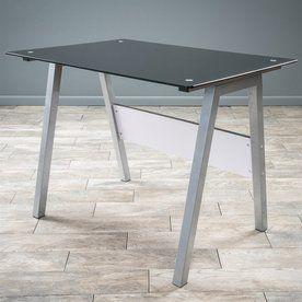 Best Selling Home Decor Alpha Contemporary Black Writing Desk Lowes Com Furniture Home Decor Home