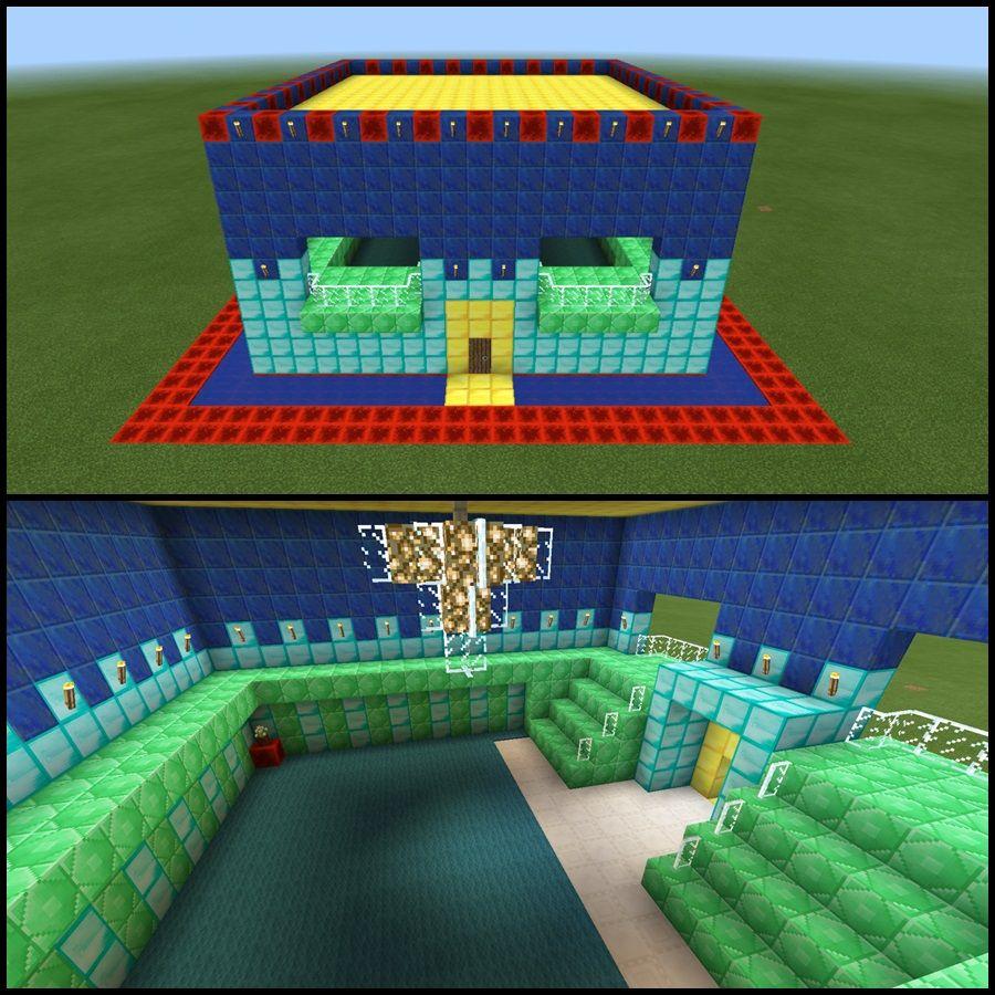Lapis lazuli house - Emerald Gold Lapis Lazuli Redstone Diamond Minecraft Castle Ky