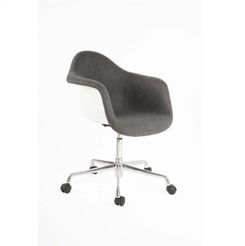 White Rolling Chair Stilnovo Midcentury Eiffel Office Arm Chair Matthew Izzo Chic