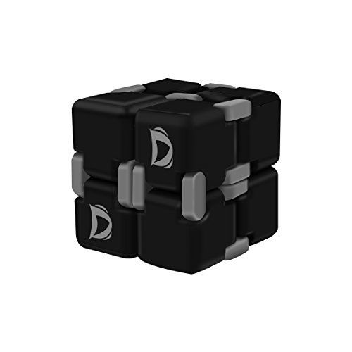 Labvon Fidget Cube In Style With Infinity Cube Pressure Reduction Toy For  ADD, ADHD, Anxiety, And Autism Adult And Children(Black).