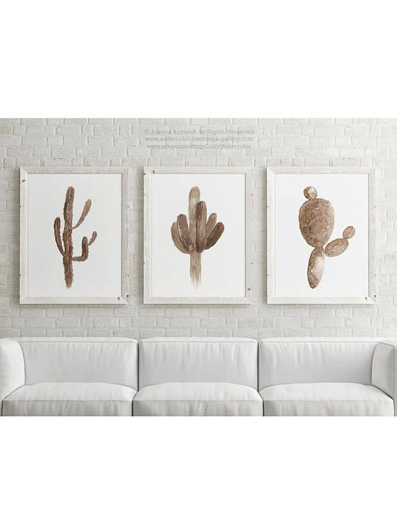 Cactus brown drawing set taupe pink art prints desert wall decor minimalist modern succulent home decoration entryway botanical poster also rh pinterest