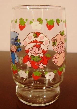 Vintage 1981 Strawberry Shortcake Glass / by HandaddysAttic, $8.50