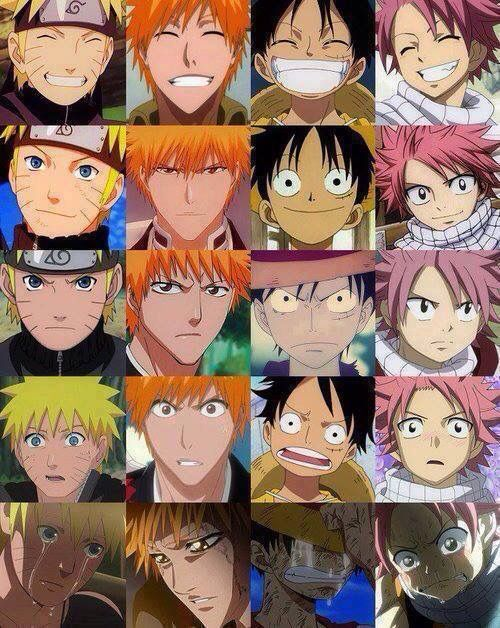 Naruto, Bleach, One Piece & Fairy Tail Naruto, Ichigo
