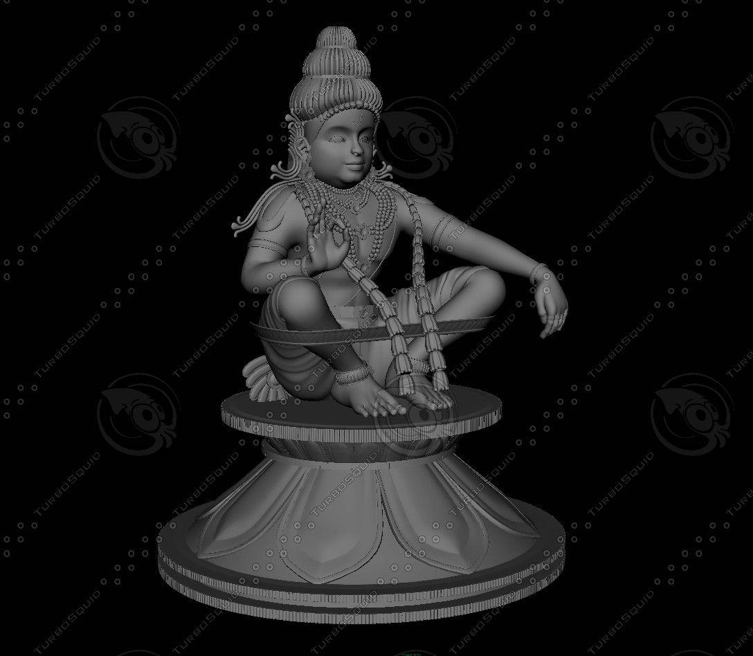Swami Ayyappan 3d Model 3d Model Hindu Worship 3d Model Lord Murugan Wallpapers