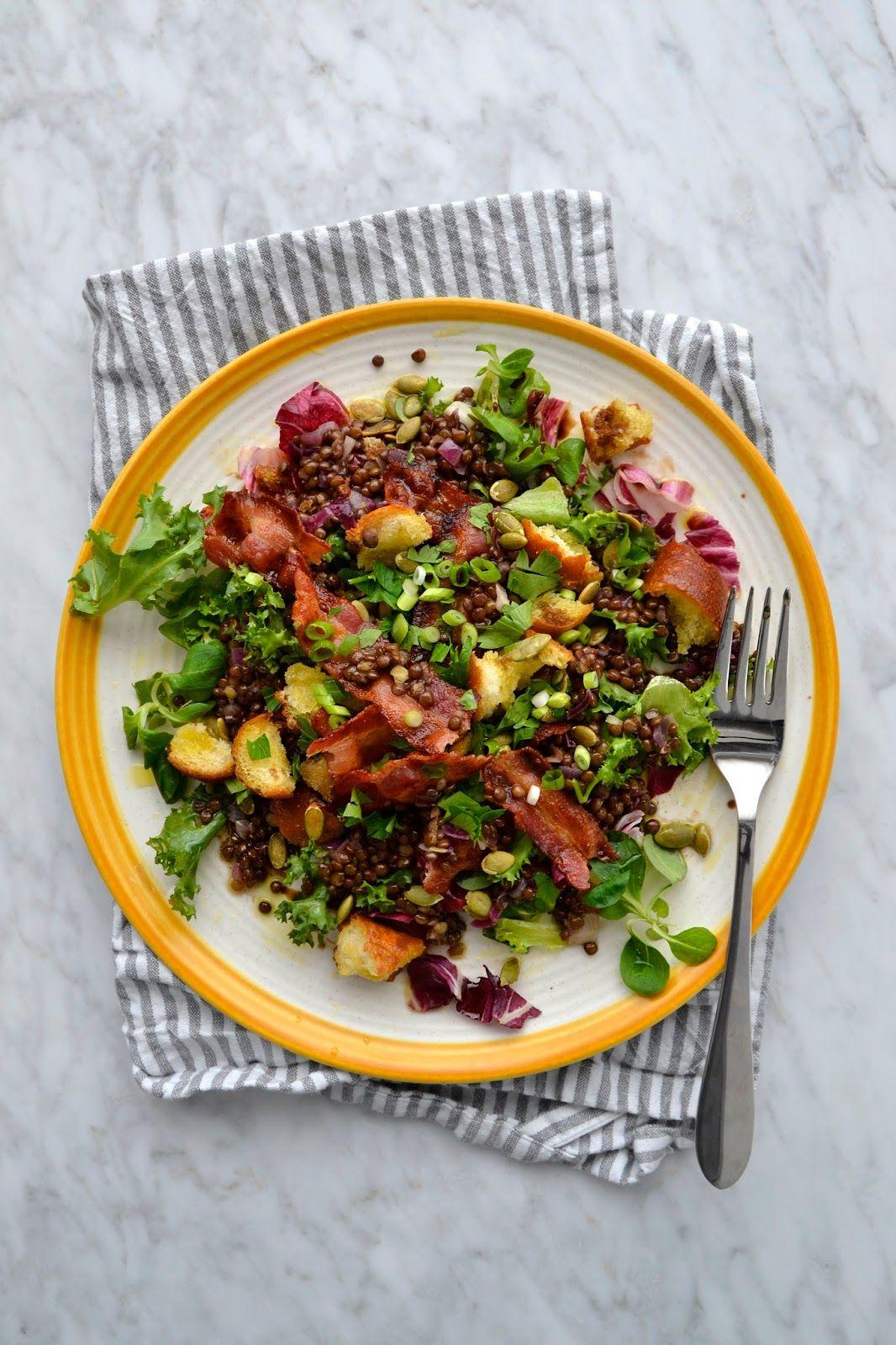 Salade De Lentilles Lardons : salade, lentilles, lardons, Simple, Comme, Salade, Lentilles, Croustillant, Cuisine, C'est, Lentilles,, Recettes, Minceur,