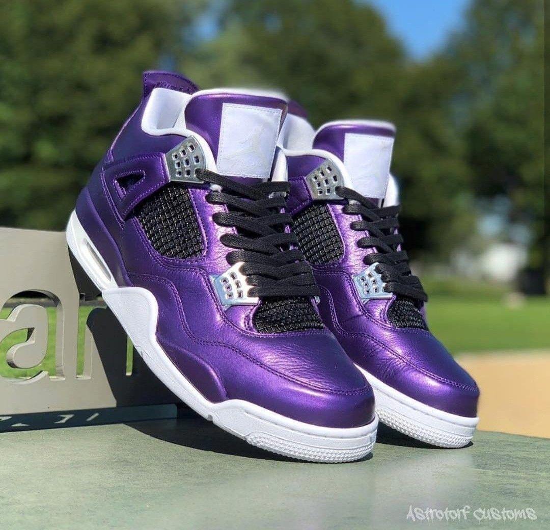 d9de40e6d6a What do you think about these custom purple painted jordans by  @astrotorfcustoms #jordans #