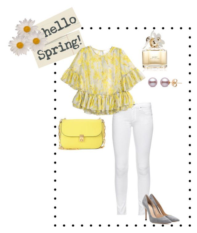 Hello Spring! by stylebysheyda on Polyvore featuring polyvore fashion style rag & bone Gianvito Rossi Valentino Marc Jacobs clothing