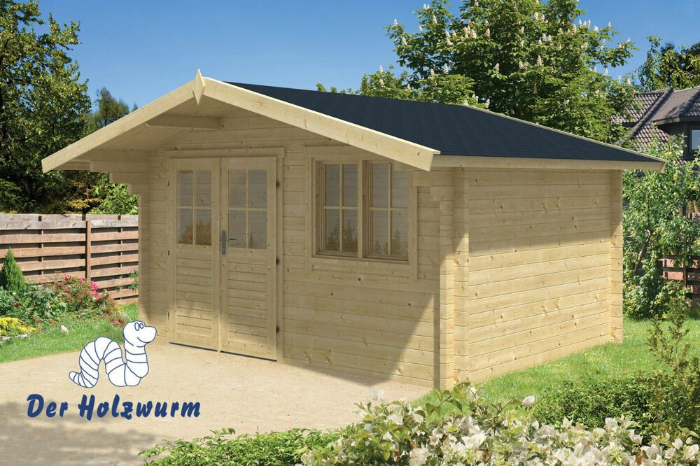 Details zu 58 mm Gartenhaus 400x300 cm Blockhaus