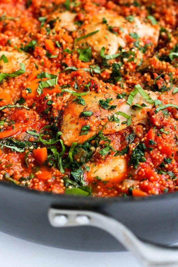 One-Pot Italian Chicken & Quinoa Recipe -  One-Pot Italian Chicken & Quinoa Recipe  -