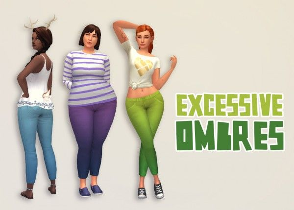 Hamburgercakes: Excessive ombres pants • Sims 4 Downloads