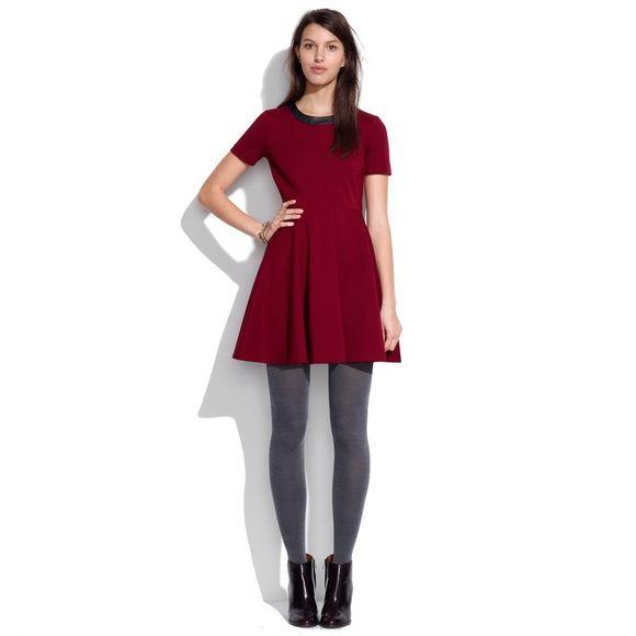 798b0fafd173fc Selling this ️MADEWELL Leather Trim Dress in my Poshmark closet! My  username is: kzamp. #shopmycloset #poshmark #fashion #shopping #style  #forsale ...