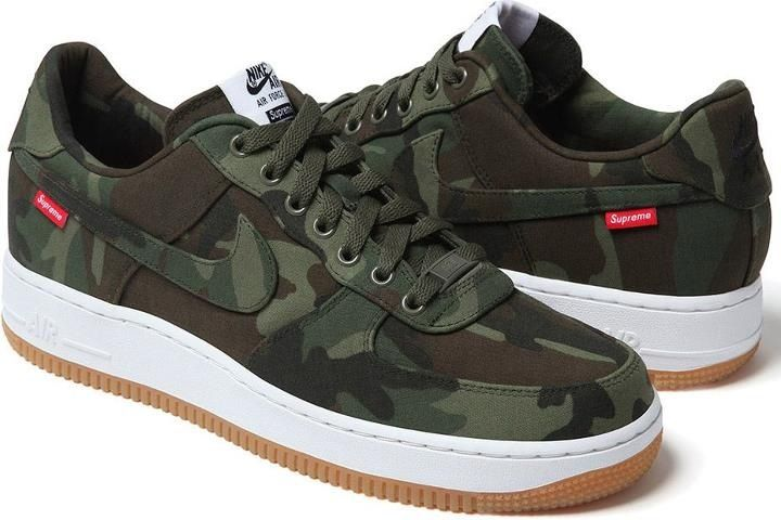 Nike Air Force 1 Supreme Military With Images Nike Air