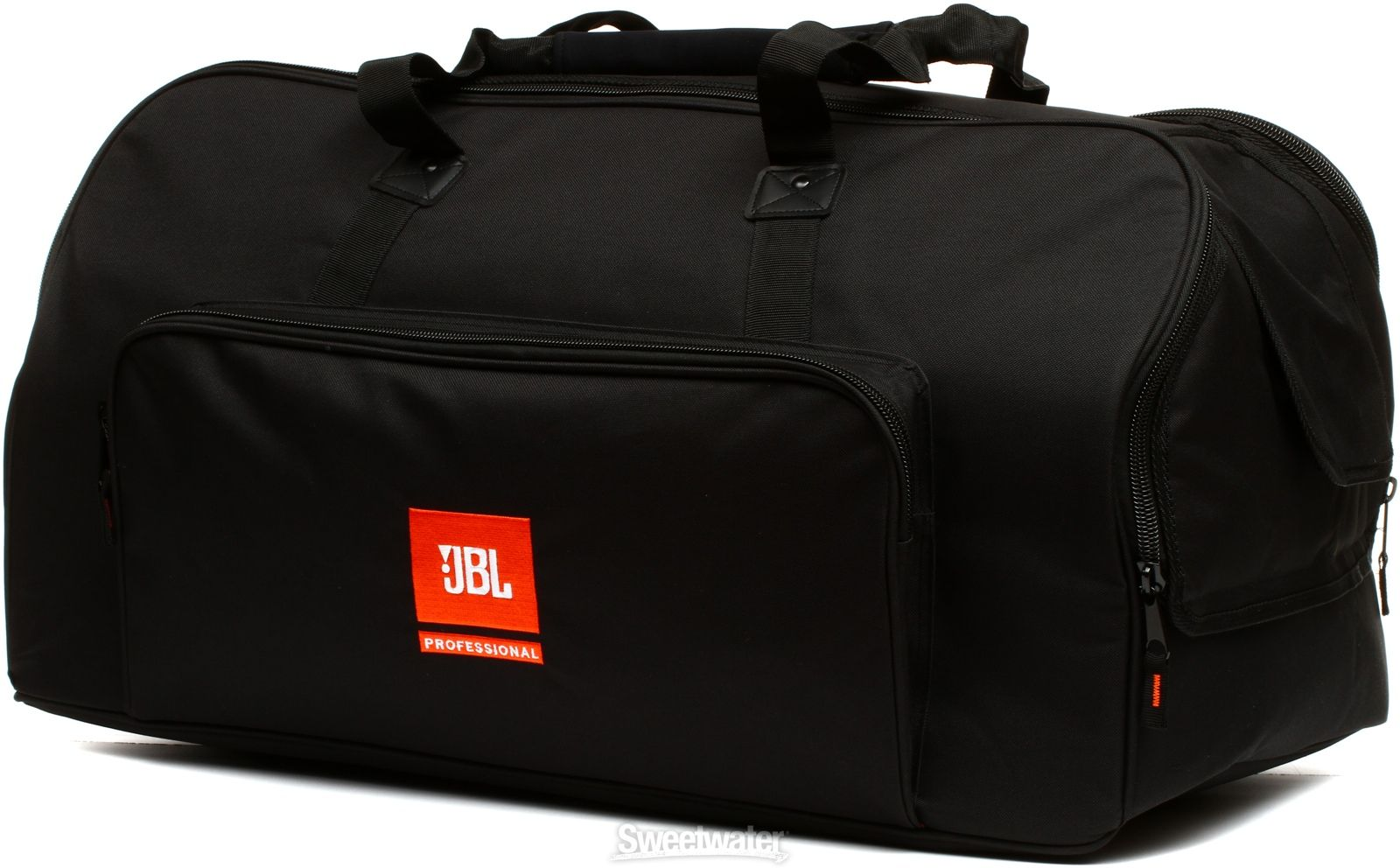 Carrying Bag for JBL EON 615 Speaker with Nylon Exterior, Padded Interior, Heavy-duty Zippers, and Handle Cut-outs - Black