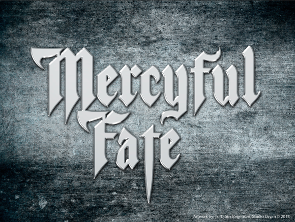 "Mercyful Fate logotype by Torbjorn ""Toby"" Jorgensen, via Behance"
