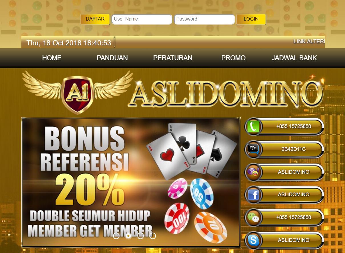 Daftar Aslidomino Aslidomino Asli Domino Www Aslidomino Com Aslidomino Login Poker