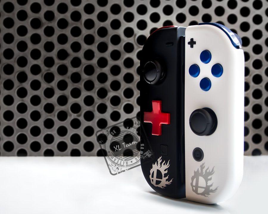 Custom Super Smash Bros Themed Nintendo Switch Joy Con Joycon Etsy Super Smash Bros Smash Bros Nintendo Switch