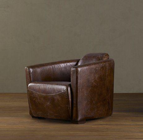 RH - rocket leather chair