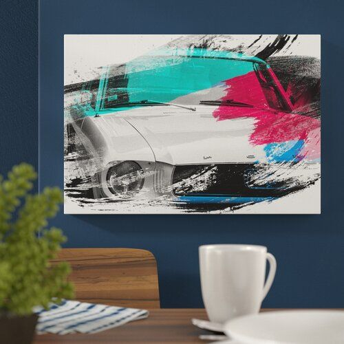 East Urban Home 'Vintage Classic Car' Graphic Art Print on Canvas | Wayfair.co.uk