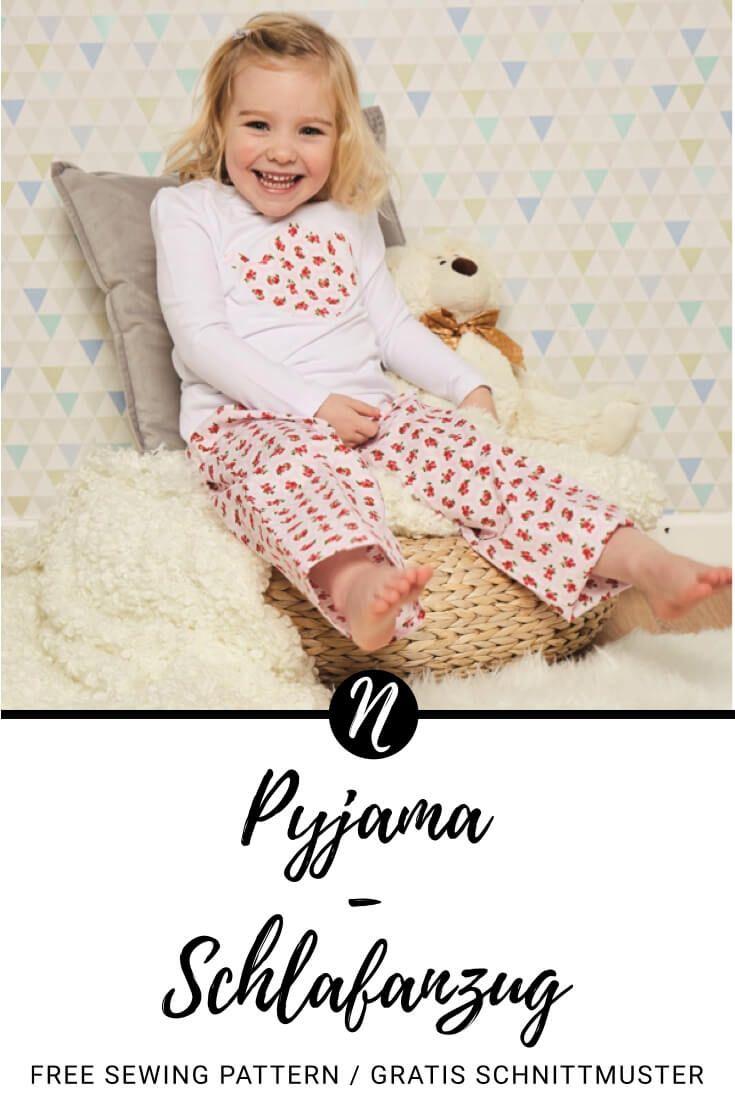 Kostenloses Schnittmuster für einen Kinder-Schlafanzug für 2 - 6 ...