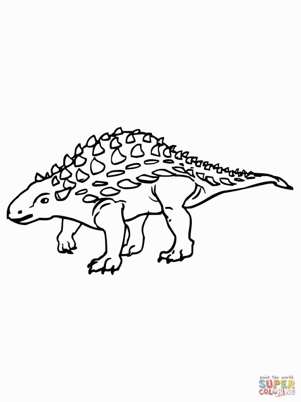 Ankylosaurus Coloring Page | Coloring Pages | Pinterest