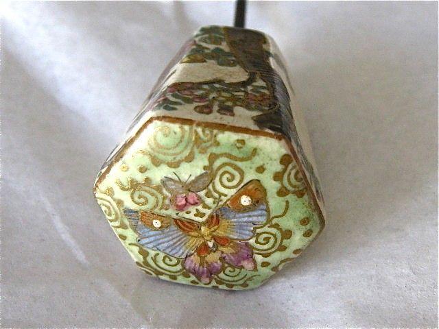 Antique Satsuma Hat Pin