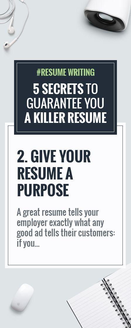 Resume Writing 5 Secrets to Guarantee You A Killer Resume - 5 resume writing tips