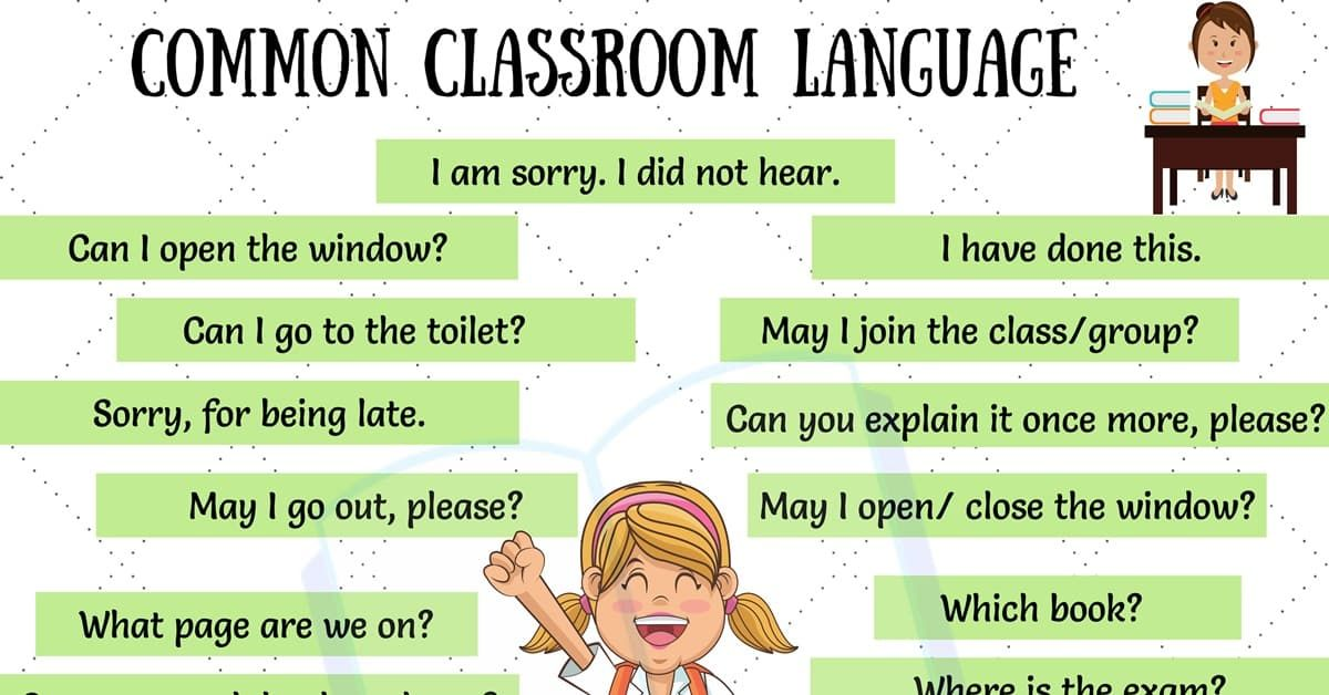 11 types of possible classroom expressions that every ESL teacher must use in the classroom