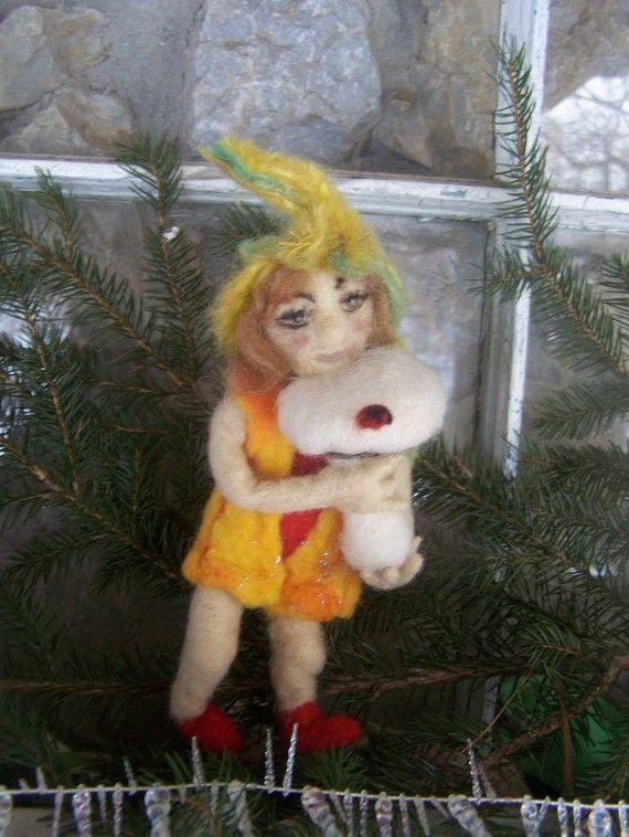 Gnome Nadel Gefilzte Skulptur von feltingirl auf Etsy, $30.00