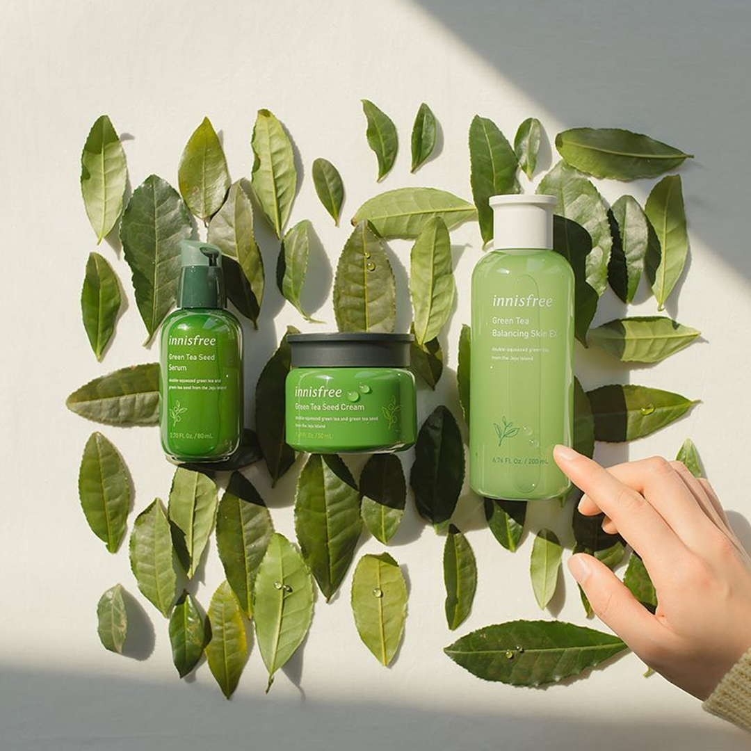 You Don T Have To Pick Your Fighter Consider Innisfree S Green Tea Line Your Summer Game Changer Innisfree Natural Skincare Brands Beauty Skin Care