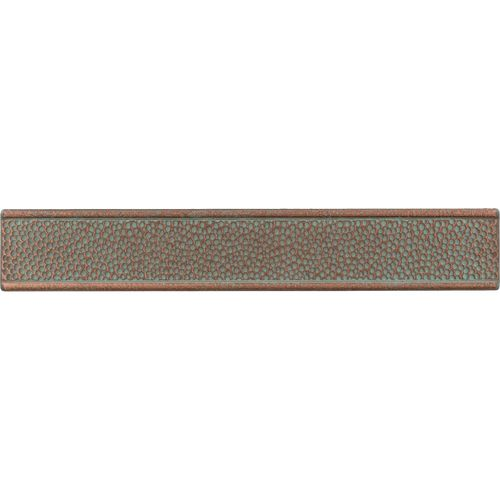 Organic Accent Wall Metal Copper: FIELD/ACCENT TILE - AGED COPPER HAMMERED BORDER