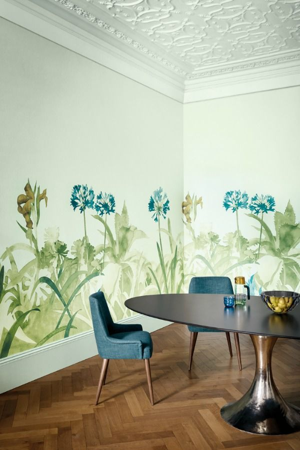 Aloe Walk By Paint Paper Library Glass Mural Wallpaper Direct Paint And Paper Library Wallpaper Living Room Dining Room Wallpaper