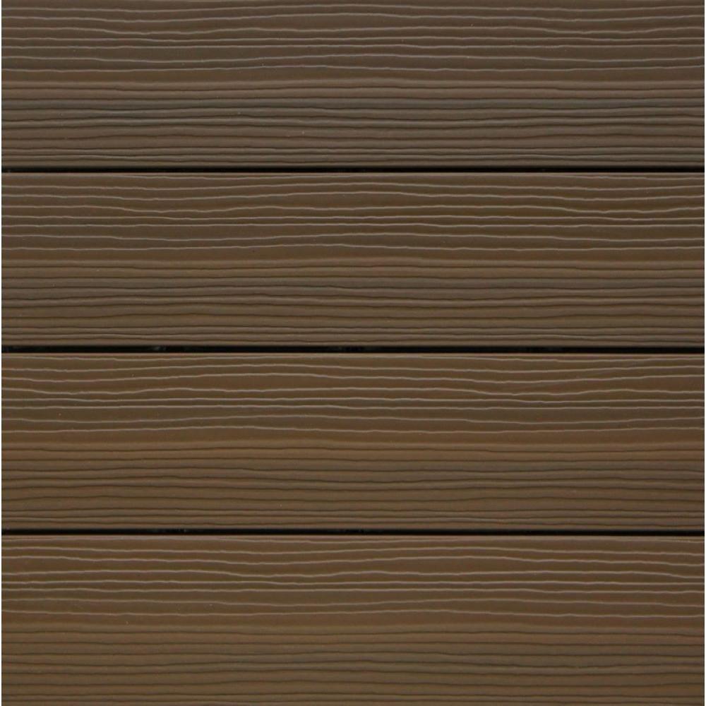 NewTechWood Composite Deck Tile Kit in Ipe Color (10 Tiles