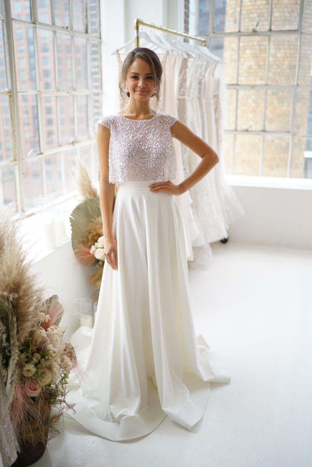 Ava Separate Skirt Anna Campbell Two Piece Wedding Dress Wedding Dresses Bridal Separates [ 1496 x 1000 Pixel ]