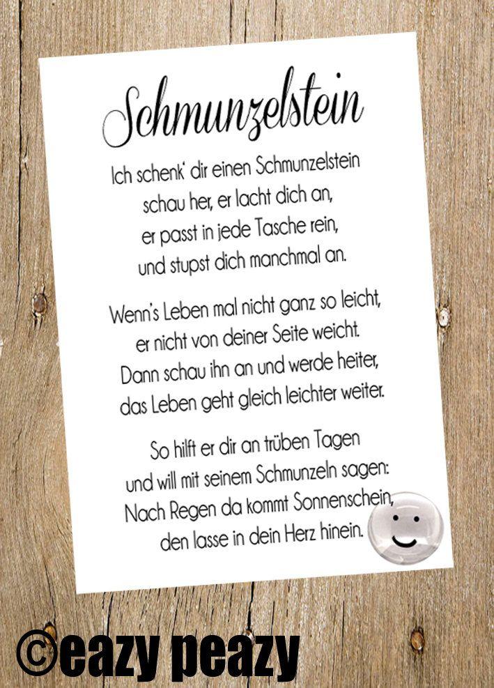 SCHMUNZELstein. Postkarte & Glasnugget | Etsy