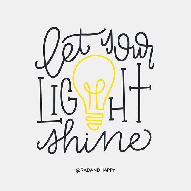 ⭐️Light bulbs. Day 4 #CBDrawADay #radandhappylettering