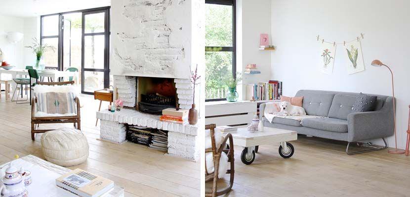 Casa en estilo ecléctico y ambientes serenos - http://www.decoora.com/casa-estilo-eclectico-ambientes-serenos/