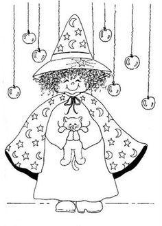 Kleurplaten Heksenketel.Heksenketel Kleurplaat Google Zoeken Halloween Heksen
