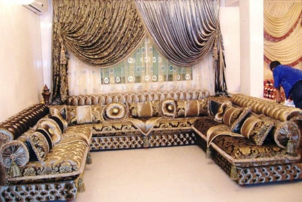Ancient Arabian Living Room Stock Photo - Image of carpet ...