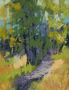 into the woods by judy wilder dalton pastel 6 x 4 5 wilder art