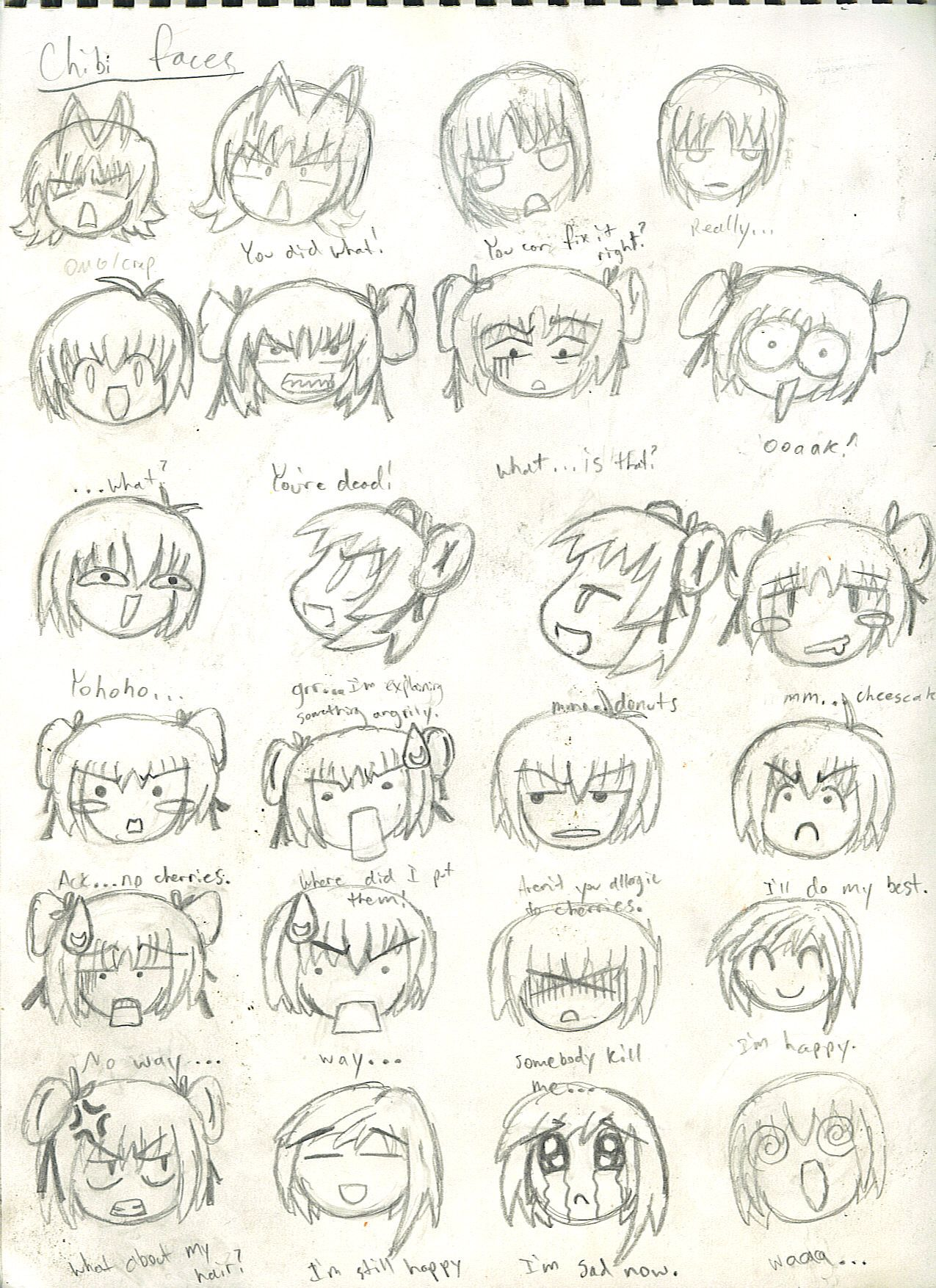 Chibi Faces 1 By Lunar Virage On Deviantart Cute Illustration