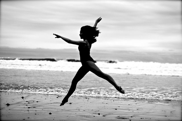 that feeling when you're so full of energy and health you just have to run and leap
