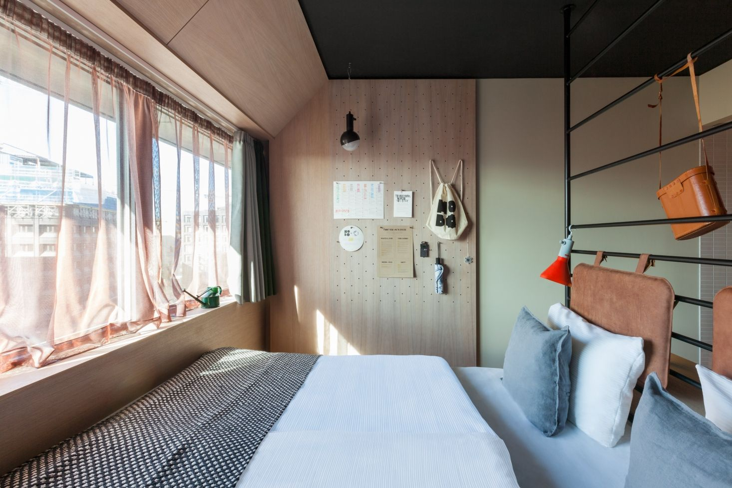 Clever use of tiny bedroom hobo hotel stockholm designed by studio aisslinger patricia parinejad photo