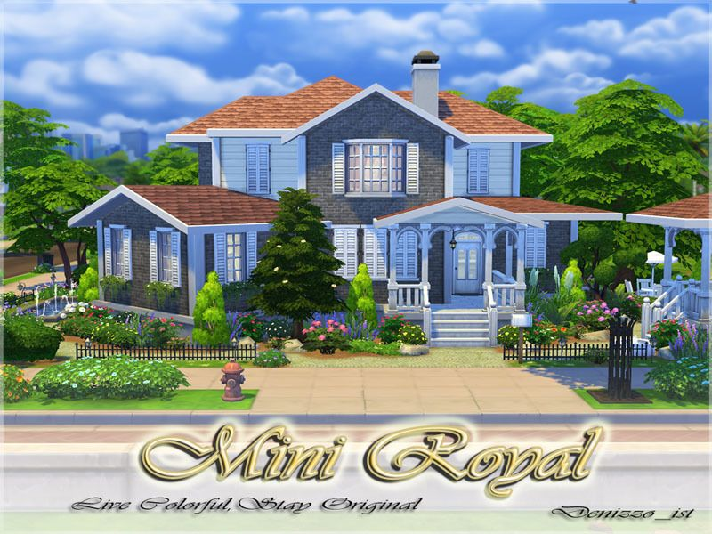 30x20 A Cute And Useful House Found In Tsr Category Sims 4 Residential Lots The Sims 4 Lots Sims Sims Building