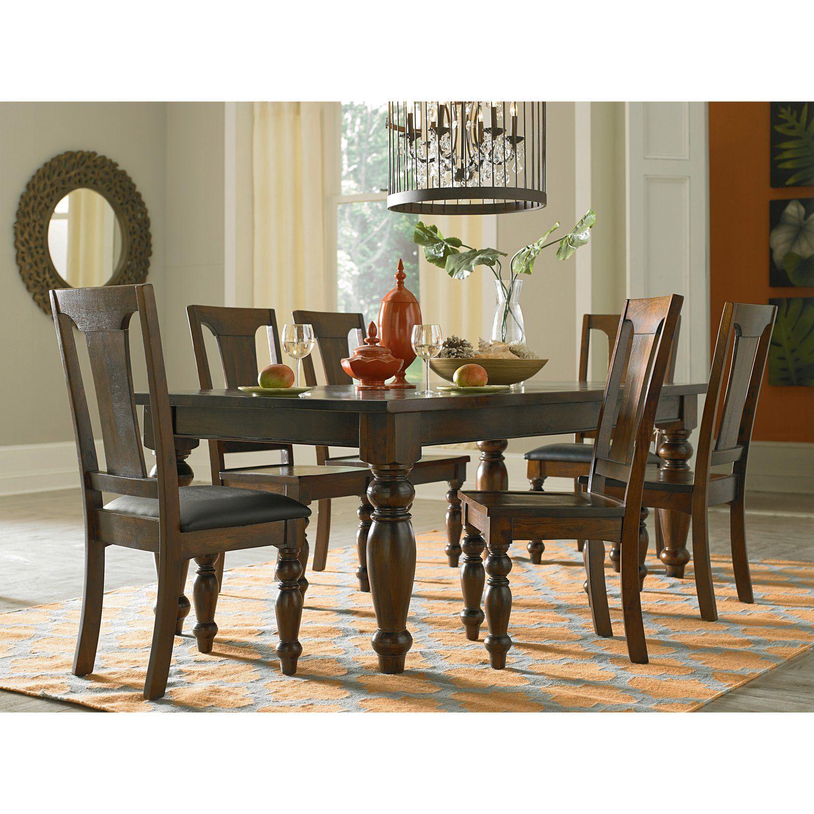 World Interiors 7 Piece Chatham Downs Rectangular Dining Table Set