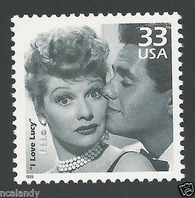 VINTAGE I Love Lucy TV Lucille Ball Desi Arnaz Ricky Ricardo US Stamps Set MINT
