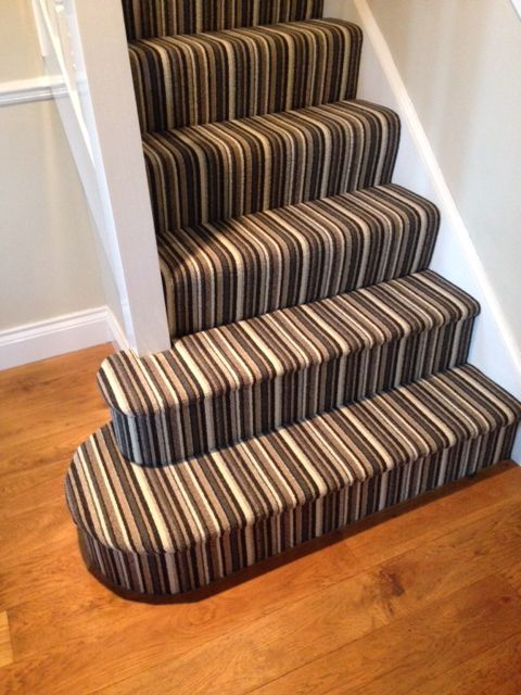 Best Striped Stair Carpet Installed By Tayflor Carpets Vinyls 400 x 300