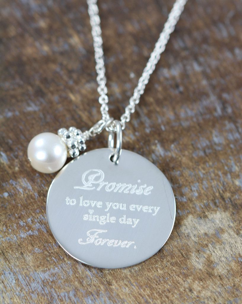 Wedding gift for the bride from groom personalize custom wedding wedding gift for the bride from groom personalize custom wedding jewelry engraved pendant aloadofball Choice Image