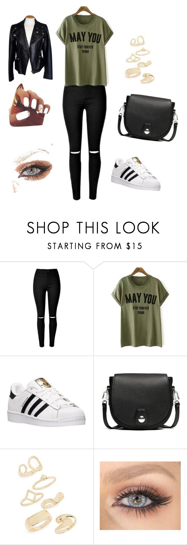 """""""Untitled #115"""" by anasanchez2 ❤ liked on Polyvore featuring adidas, rag & bone, Topshop and Alexander McQueen"""
