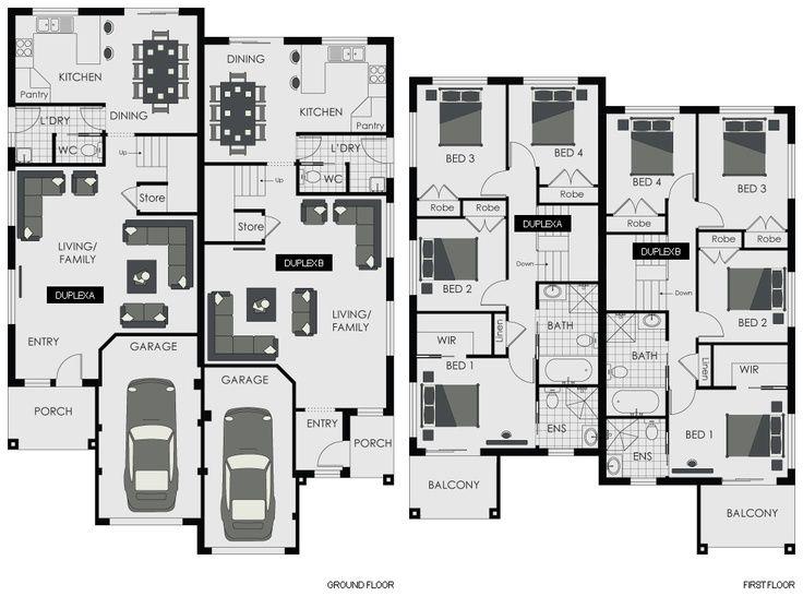 2 Story Duplex Floor Plans Google Search