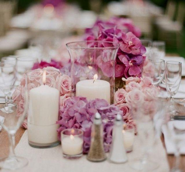 teelichter rosa bl ten wei er tischl ufer kristall vase deko pinterest rosa bl te. Black Bedroom Furniture Sets. Home Design Ideas